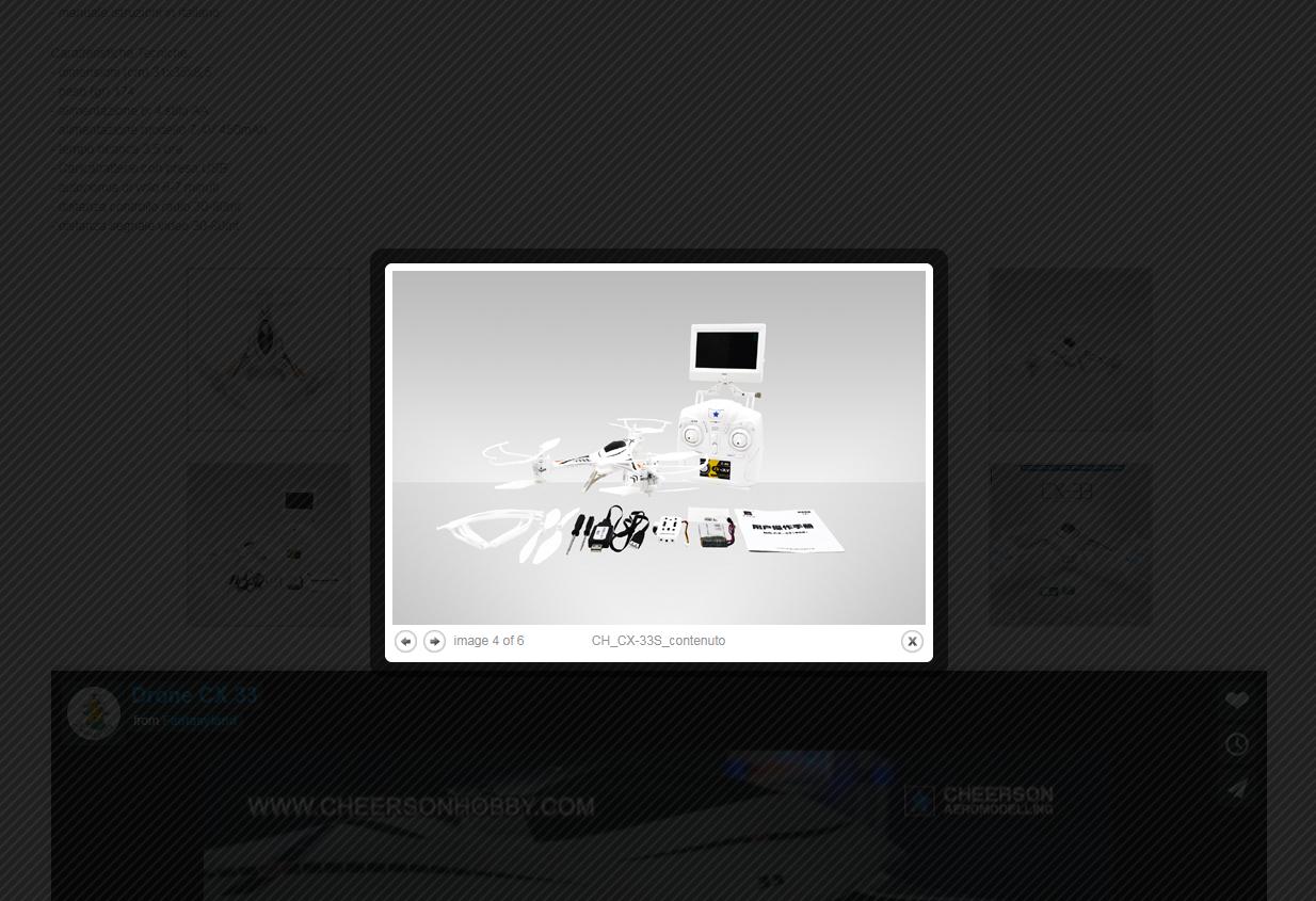 servicio honesto DRONE CX-33 CON RADIO VIDEOCAMERA FPV 5.8G 5.8G 5.8G  venta directa de fábrica