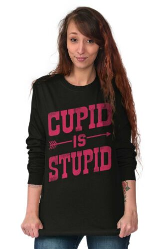 Cupid Stupid Funny Shirt Cute Valentine Day Couple Gift Cool Long Sleeve Tee