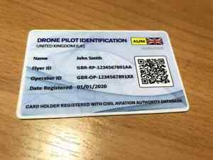 Drone ID Card with Unique QR - Drone and Model Aircraft Operator & Flyer ID Card