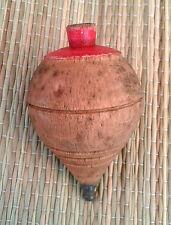 Ancienne toupie en bois, sans corde,  ancien jouet, old french top toy