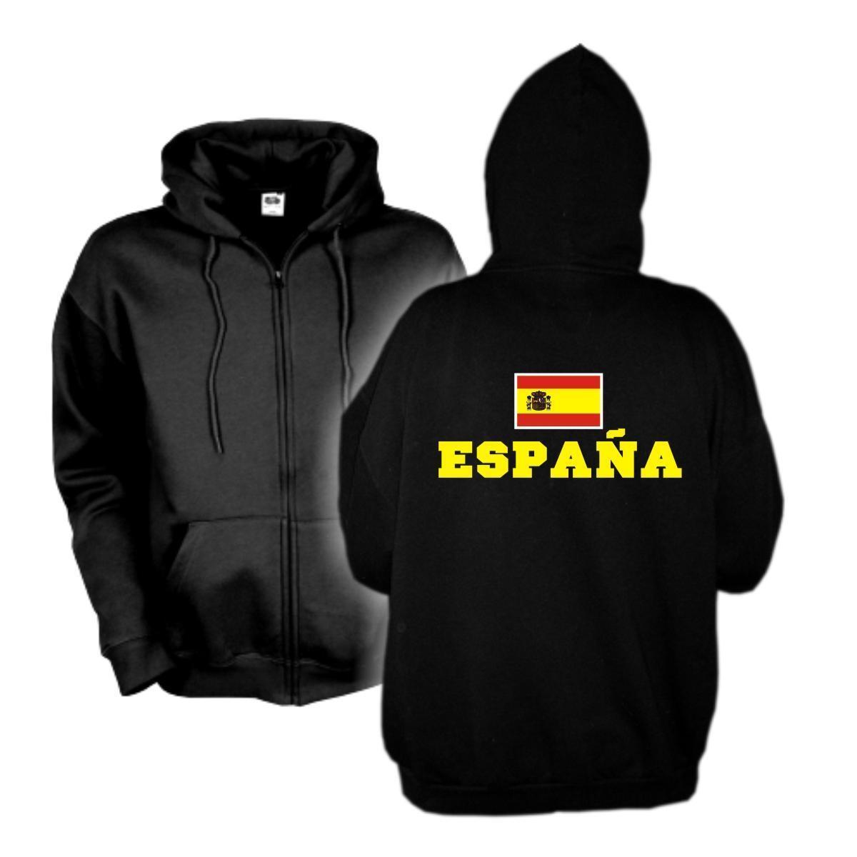 Kapuzenjacke SPANIEN Espana Flagshirt Zip Hoodie Sweatjacke S-6XL (WMS02-60e)
