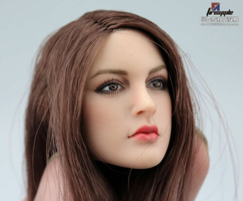 "1//6 Scale Female long hair Head Sculpt F 12/"" TBLeague PHICEN Hot Toys Figure Toy"
