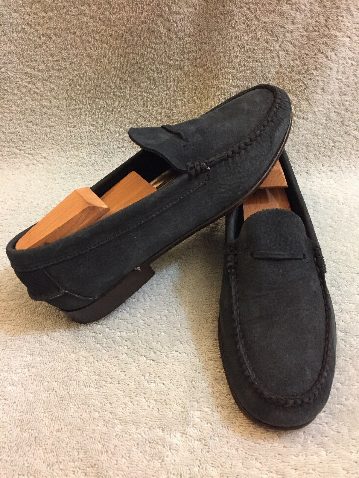 Brooks Bredhers Navy bluee Suede Casual Loafers shoes Men sz 7 D