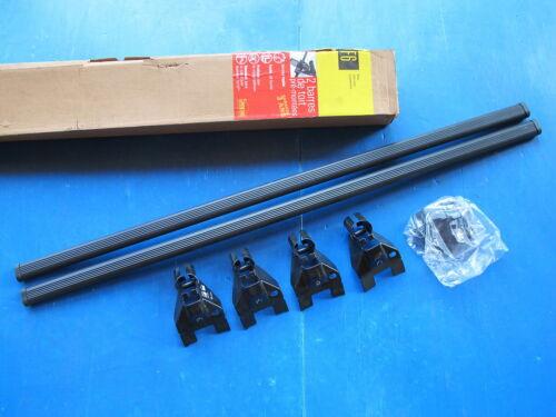 Noir Barres de toit Siepa pour tous types de véhicules à gouttières Couleur