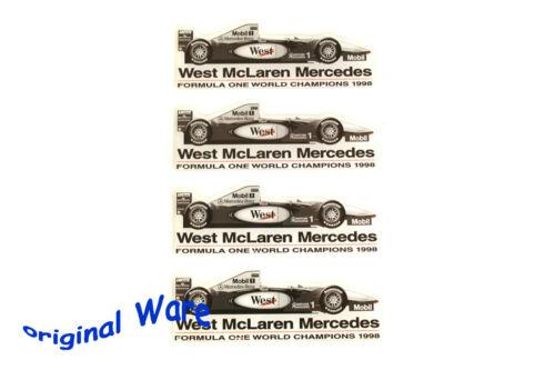 4 schöne Aufkleber der Formel 1 von Mercedes World Champion 1998 McLaren SAMMLER