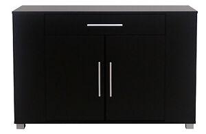 Sideboard Buffet Table Office Cabinet Door Wide Drawer Shelves - Office buffet table