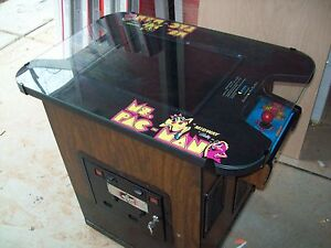 Pacman Table Game >> Ms Pac Man Fully Restored Original Cocktail Table Video Arcade Game