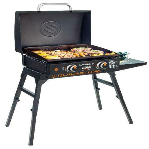 Table Top Griddle Grill Portable Outdoor BBQ Camp Cooking Hood Legs Adapter Hose