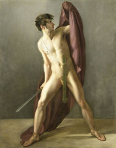 perfect-oil-painting-handpainted-on-canvas-034-warrior-with-sword-drawn-034-N12561