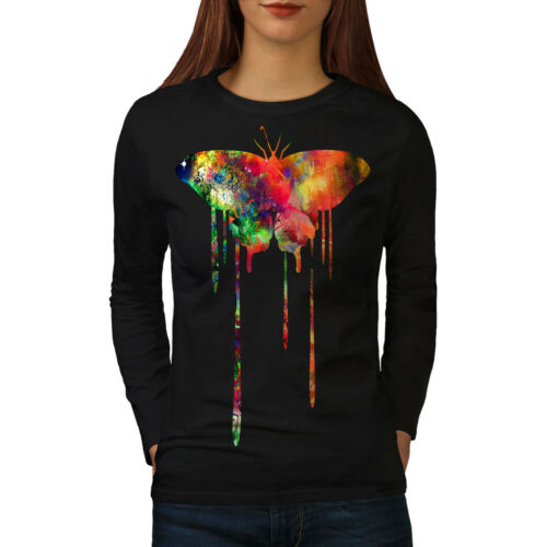 Artistic Butterfly Women Long Sleeve T-shirt NEWWellcoda