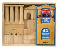 Melissa And Doug Architectural Unit Block Set , New, Free Shipping