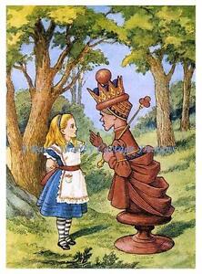 Sweet Alice In Wonderland Fabric Block Choice of 8x10 or 5x7