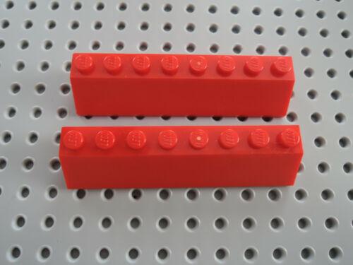 Lego 2 x Schrägstein Dachstein 4445  2x8  rot