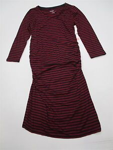 new-LIZ-LANGE-MATERNITY-DR726-Women-039-s-Size-XS-Striped-Fitted-Red-Bodycon-Dress