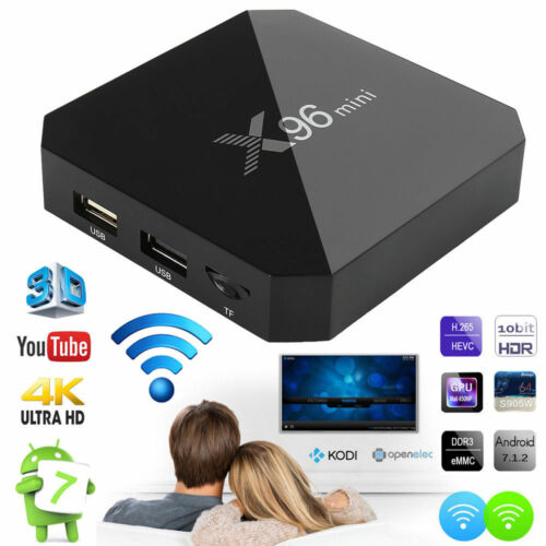 16GB 4K Media Player X96 Mini TV Box Android 7.1.2 S905W Quad Core WiFi HD 2GB