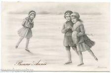 A. RONDINA . Enfants, patins à glace . Children, ice skates.