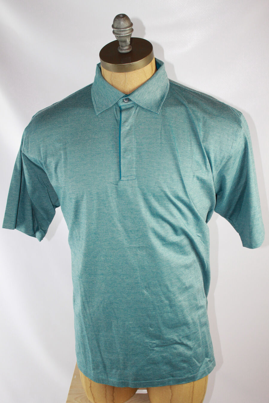 AUTH  Ermenegildo Zegna Men Stripe Polo Shirt 2XL