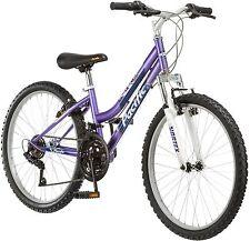 24 Inch Girl Mountain Bike Purple and White Womens Bicycle