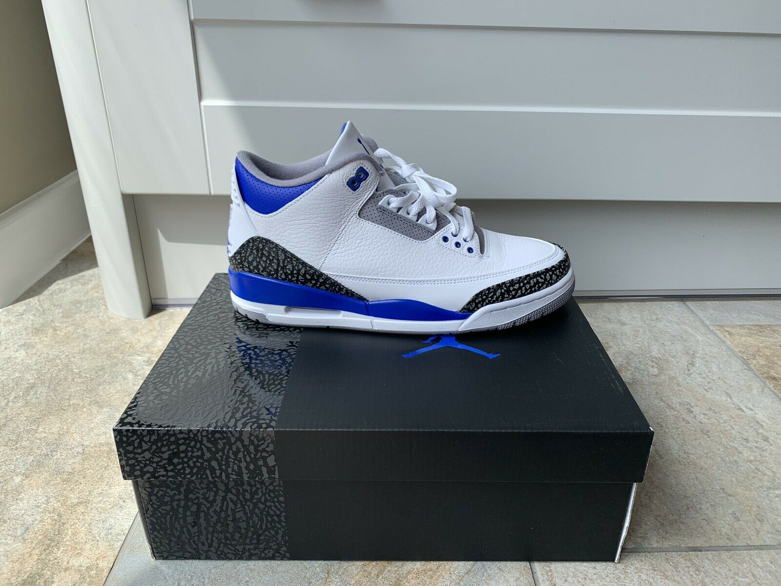 "Nike Air Jordan 3 ""Racer Blue"" UK9 New/Deadstock w/receipt"