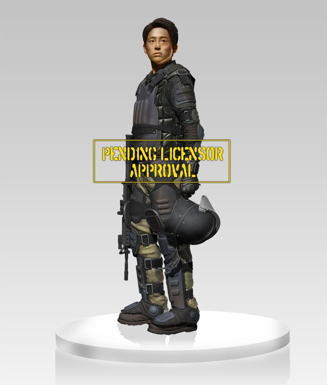 Gentle Giant  The Walking Dead Glenn in Riot Gear 1 4 Statue