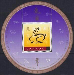 F-EX22558 CANADA MNH 1988 CHINA YEAR OF RABBITT CONEJO LIEBRE .