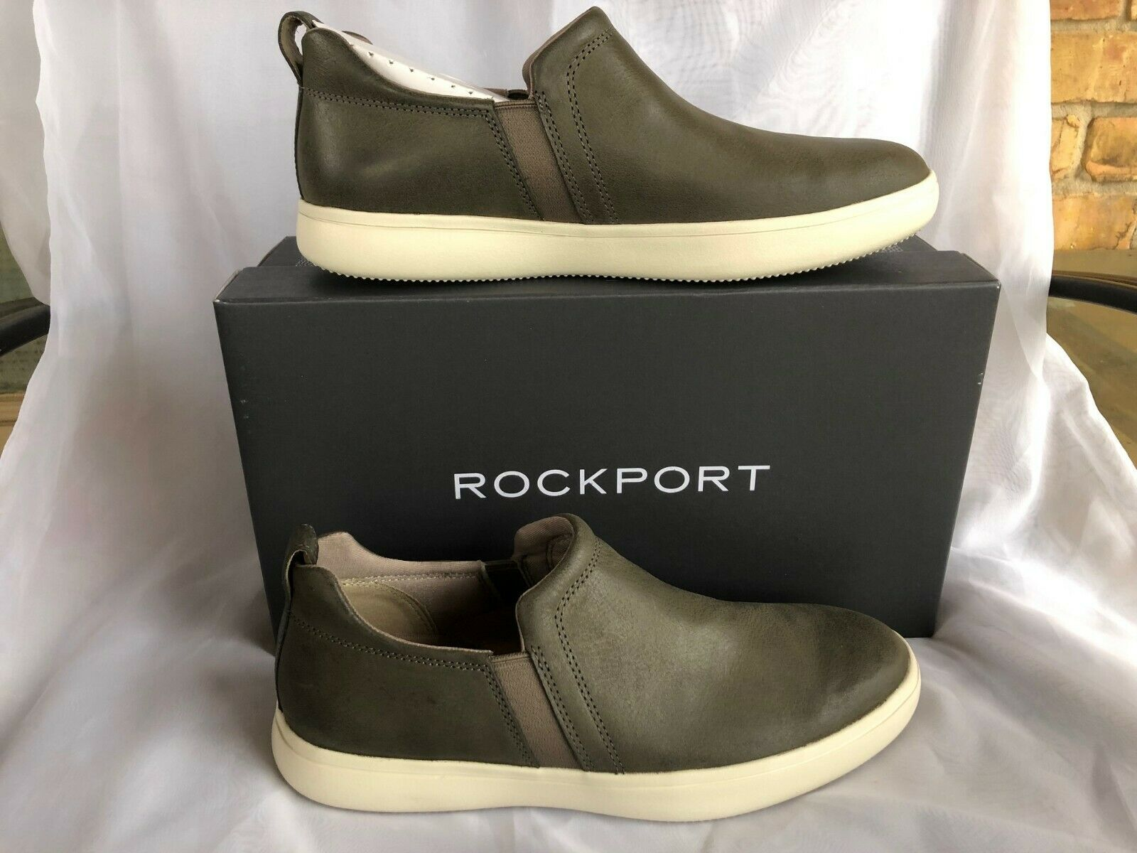 NIB Rockport Men's Colle Twin Gore Leather Sneaker shoes Gift size 9.5M
