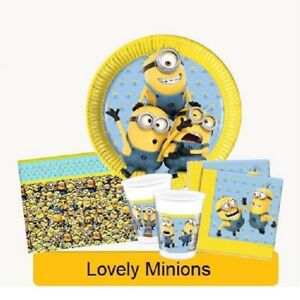 LOVELY-MINIONS-Birthday-Party-DESPICABLE-ME-Tableware-Supplies-Decorations-1C