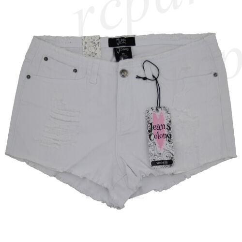 New Jeans Colony Women/'s Casual Jeans Shorts Summer White 14 16 18 20 22