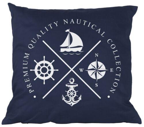 Dekokissen,dunkelblau,maritim,43x43cm,mit Füllung,