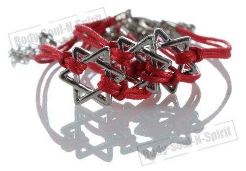 3 bracelet ÉTOILE DE DAVID à cordon ROUGE Kabbale bijoux porte bonheur