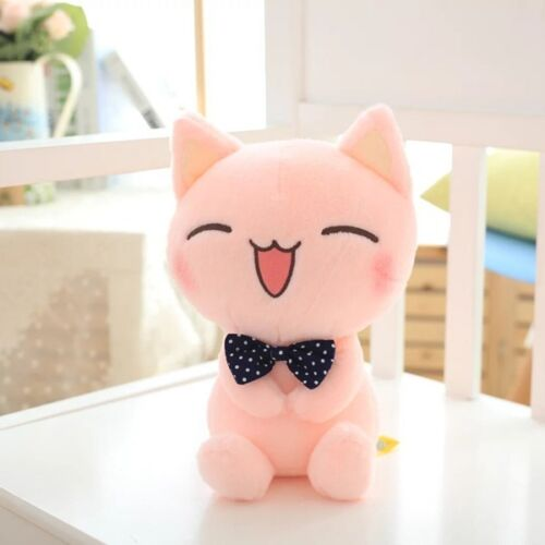 28cm Pink Cat Doll Cushion Soft Stuffed Plush Pillow Animals Sofa Toys Doll Gift