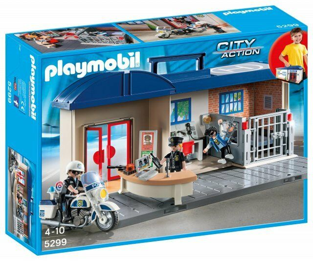 Playmobil 5299 Briefcase Headquarters of Police Station with 3 Figures and