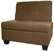 Butler Storage Bench Microfiber Suede & Leather Choose Size & Color!!!