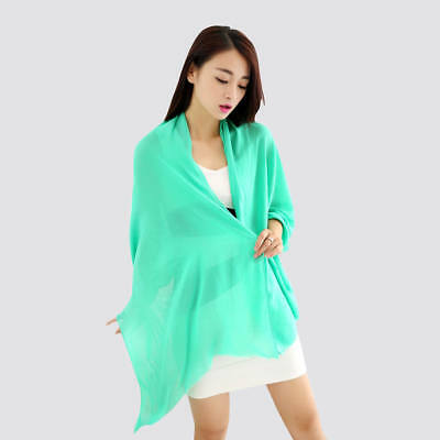 180*90cm Luxury 100/% Silk Scarf Two Tone Black-Grey Maxi Designer Women Scarf UK