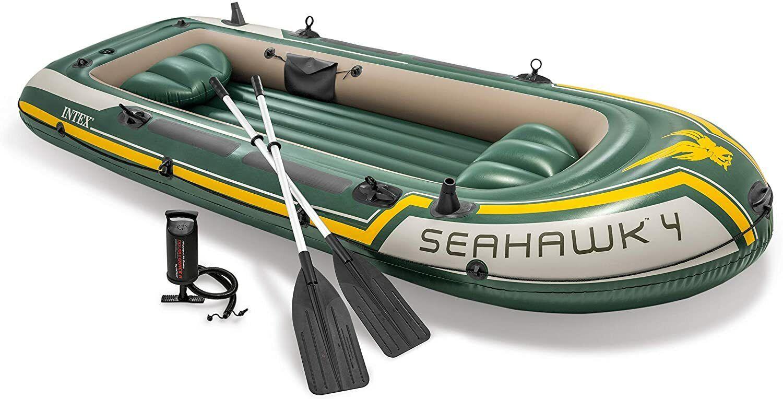 Intex 68351NP - Barca Hinchable Seahawk 4 con Remos 351 x 145...