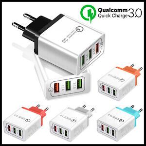Cargador-USB-Triple-de-Carga-Rapida-para-Movil-Tablet-Qualcomm-3-0-Universal