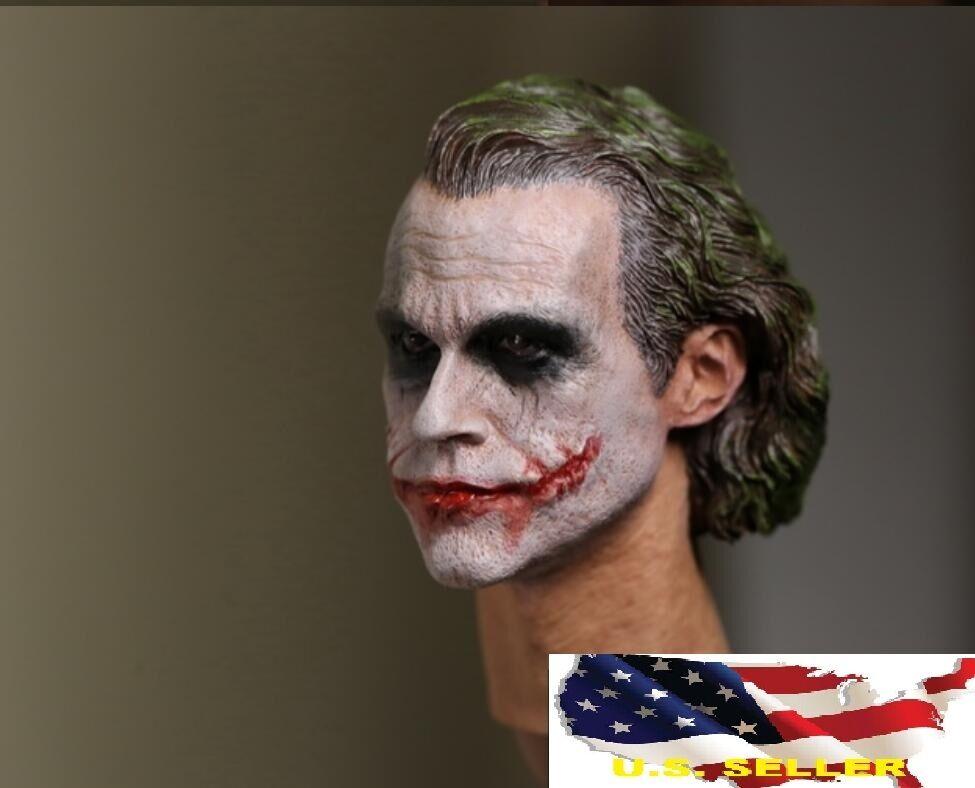 SELLER SUPREME 1//6 Custom Joker Head Sculpt 3.0 For Hot Toys DX11 DX01 U.S.A