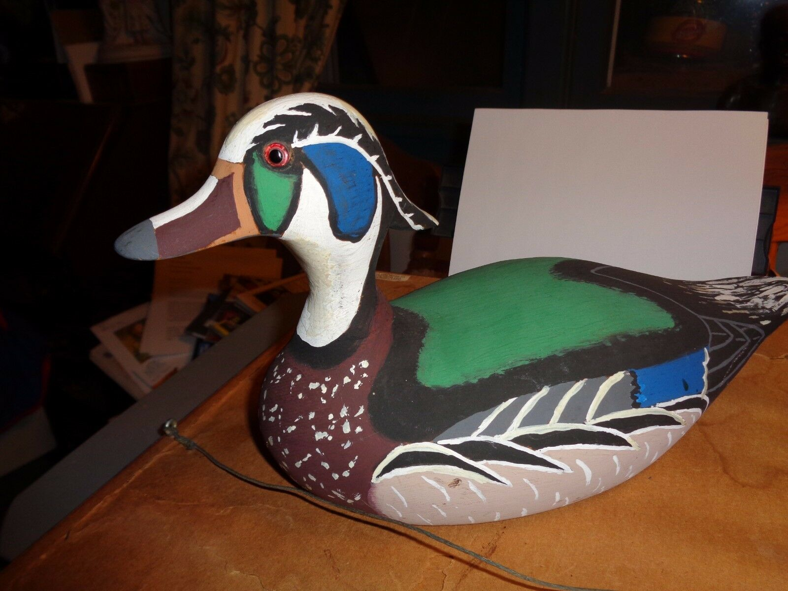 S. Hardcastle: 1975 Carved Wood Decoy; Male--nice coloring signed signed signed 767700