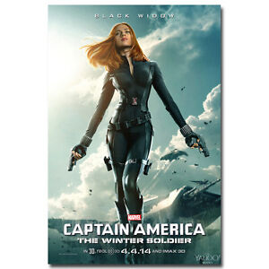 Captain America 2 The Winter Soldier Movie Silk Poster ...Captain America 2 Poster Black Widow