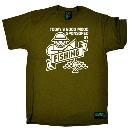 Todays Good Mood Sponsered By Fi Fishing T-Shirt Funny Novelty Mens tee TShirt
