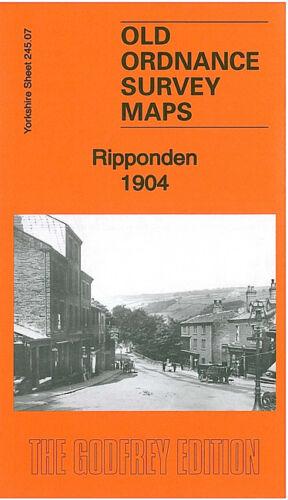OLD ORDNANCE SURVEY MAP RIPPONDEN 1904 SLITHERO HOUSE RISHWORTH BARKISLAND