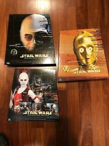 Lot de 3 figurines et livre 12   Lot Of 3 Star Wars Masterpiece Edition 12