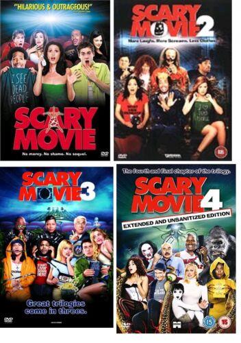 1 of 1 - SCARY MOVIE QUADRILOGY 1 - 4 DVD Box Set Part 1 2 3 4 Movie Film Brand New UK