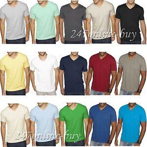 c88657872af4 Next Level Mens Premium Fitted Sueded V Neck T Shirt Vneck Tee XS ...