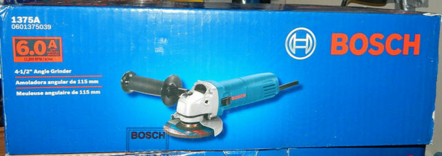 6 Amp Corded 4-1/2 in. Small Angle Grinder, Spindle Lock-on/off switch By Bosch