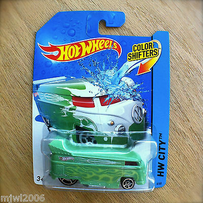 2014 Hot Wheels VW DRAG BUS 6/48 HW CITY Mattel COLOUR SHIFTERS COLOR Volkswagen