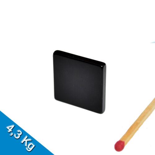 Epoxy 10 NEODYM MAGNETE  20 x 20 x 3mm NdFeB N45 Quadermagnet Schwarz