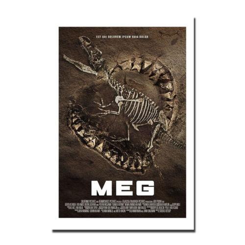 Meg Movie Film Silk Fabric Poster Art Canvas Print 12x18 24x36 inch