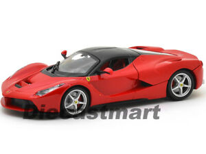 FERRARI-LAFERRARI-F70-RED-1-24-DIECAST-MODEL-CAR-BY-BBURAGO-26001