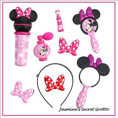 GENUINE MICKEY MOUSE CLUBHOUSE MINNIE MOUSE HAIR & BEAUTY POPSTAR PLAY SET NEW